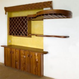 Built In Bar With Wine Rack